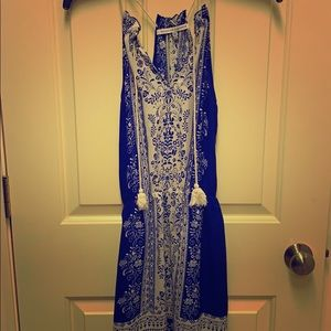 Collective Concepts blue and white dress, Size XS